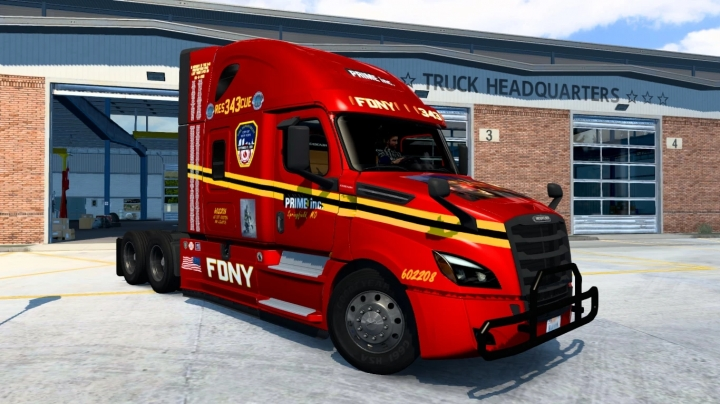 ATS - Prime Inc. FDNY Squad 343 Skin V1.0 (1.41.x)