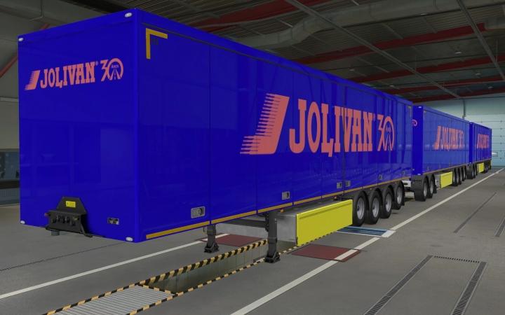 ETS2 - SCS Trailers Transportadora Jolivan 30 Anos Skin (1.40.x)