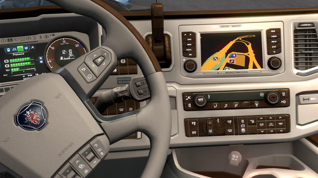 ETS2 - New Scania Lux Interior V1.0 (1.38.x)