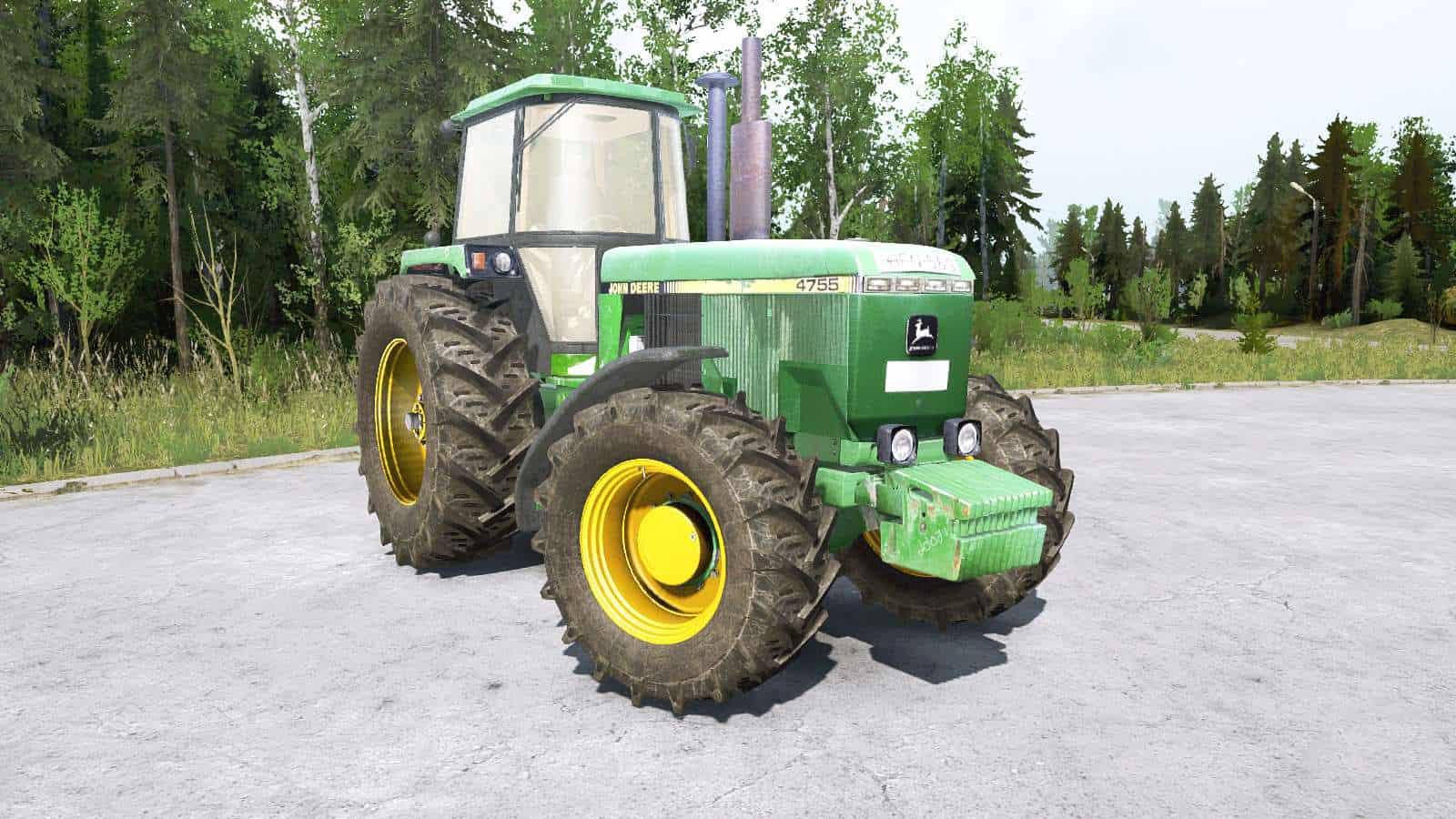 Spintires:Mudrunner - John Deere 4755 Tractor