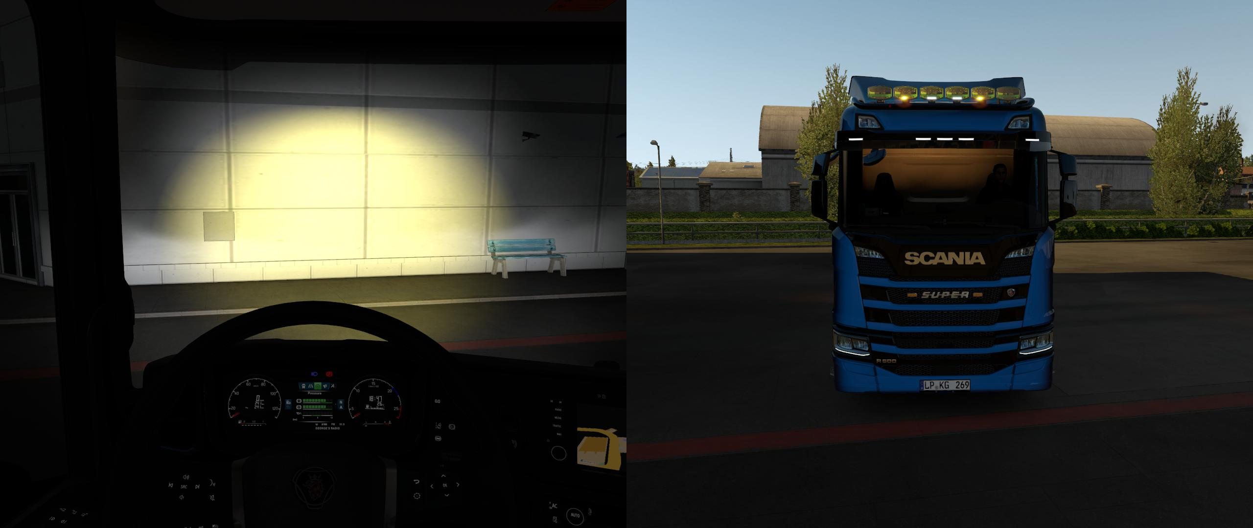 ETS2 - Pack Light Hella Auxiliary (1.35.X)