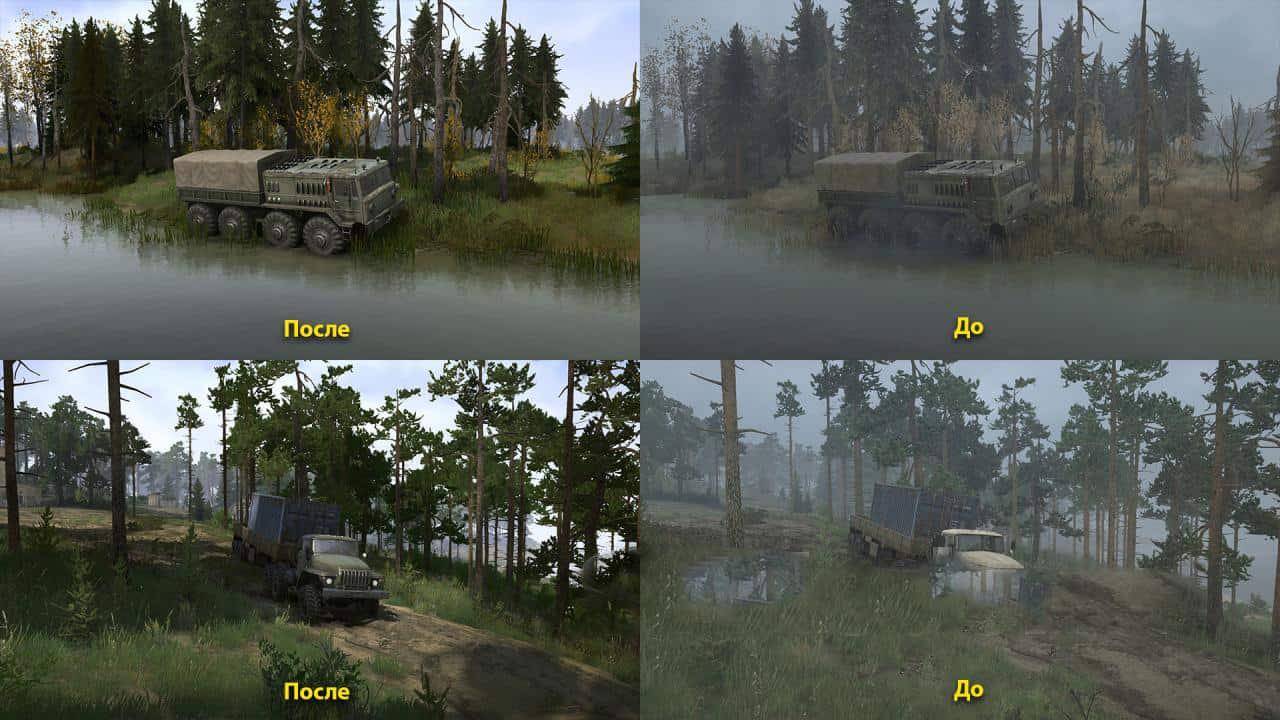 Spintires:Mudrunner - Realistic Graphics Adega Mod Pack V2.6