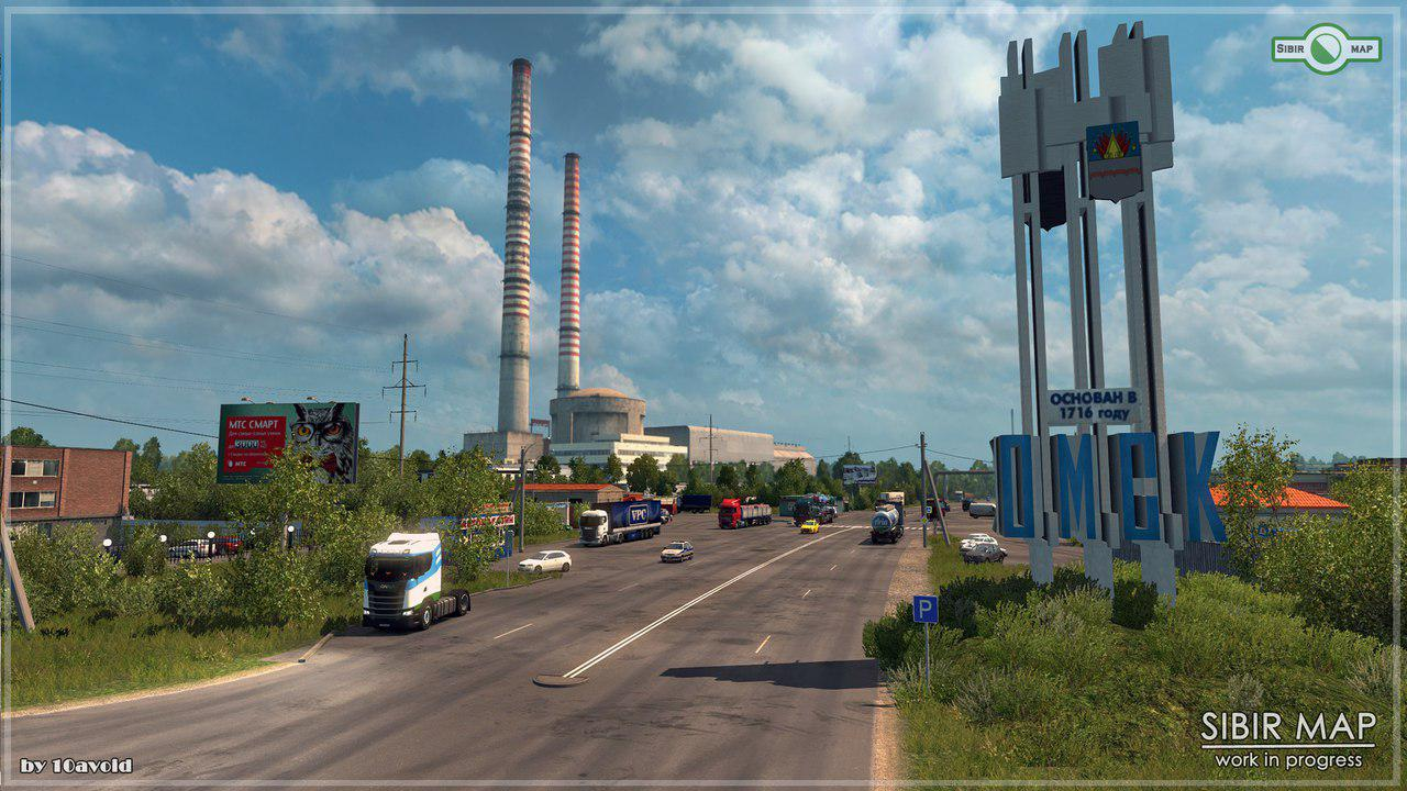 ETS2 - Sibir Map Alpha Version V0.4.2 (1.35.x)