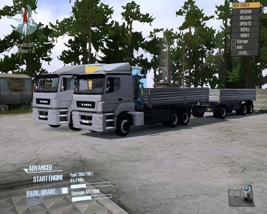 Spintires:Mudrunner - Kamaz-5325 Truck V3.0