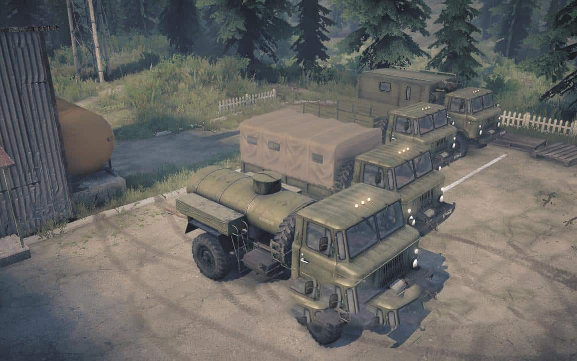 Spintires:Mudrunner - Head of The Base in The Army Map V1.0