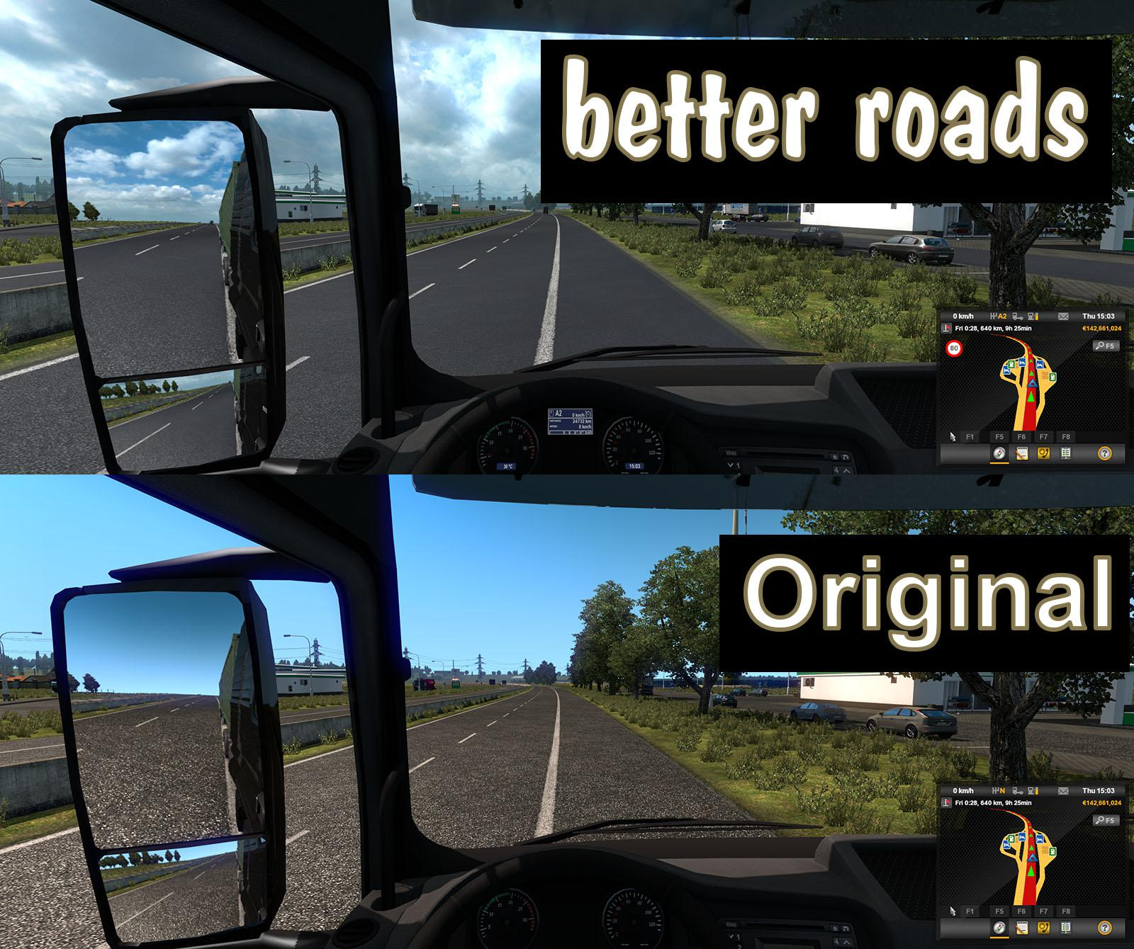 ETS2 - Better Roads for Old Maps V1.0 (1.40.x)