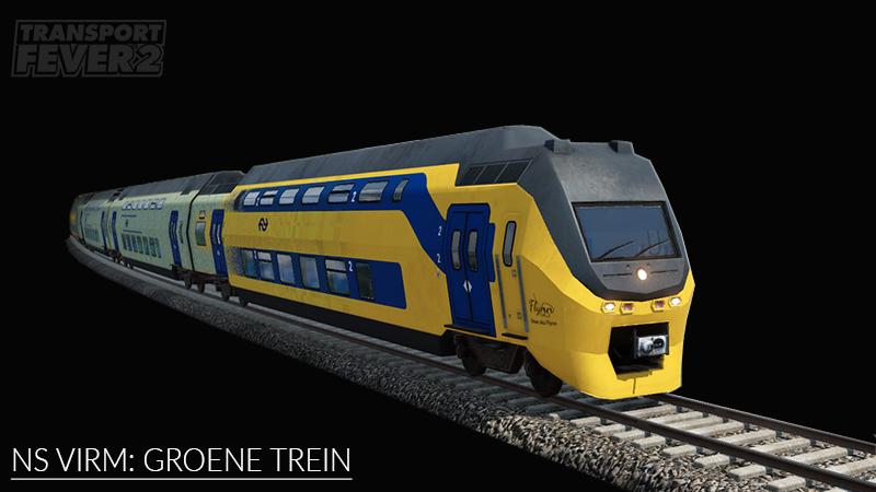 Transport Fever 2 - NS VIRM: Groene Trein