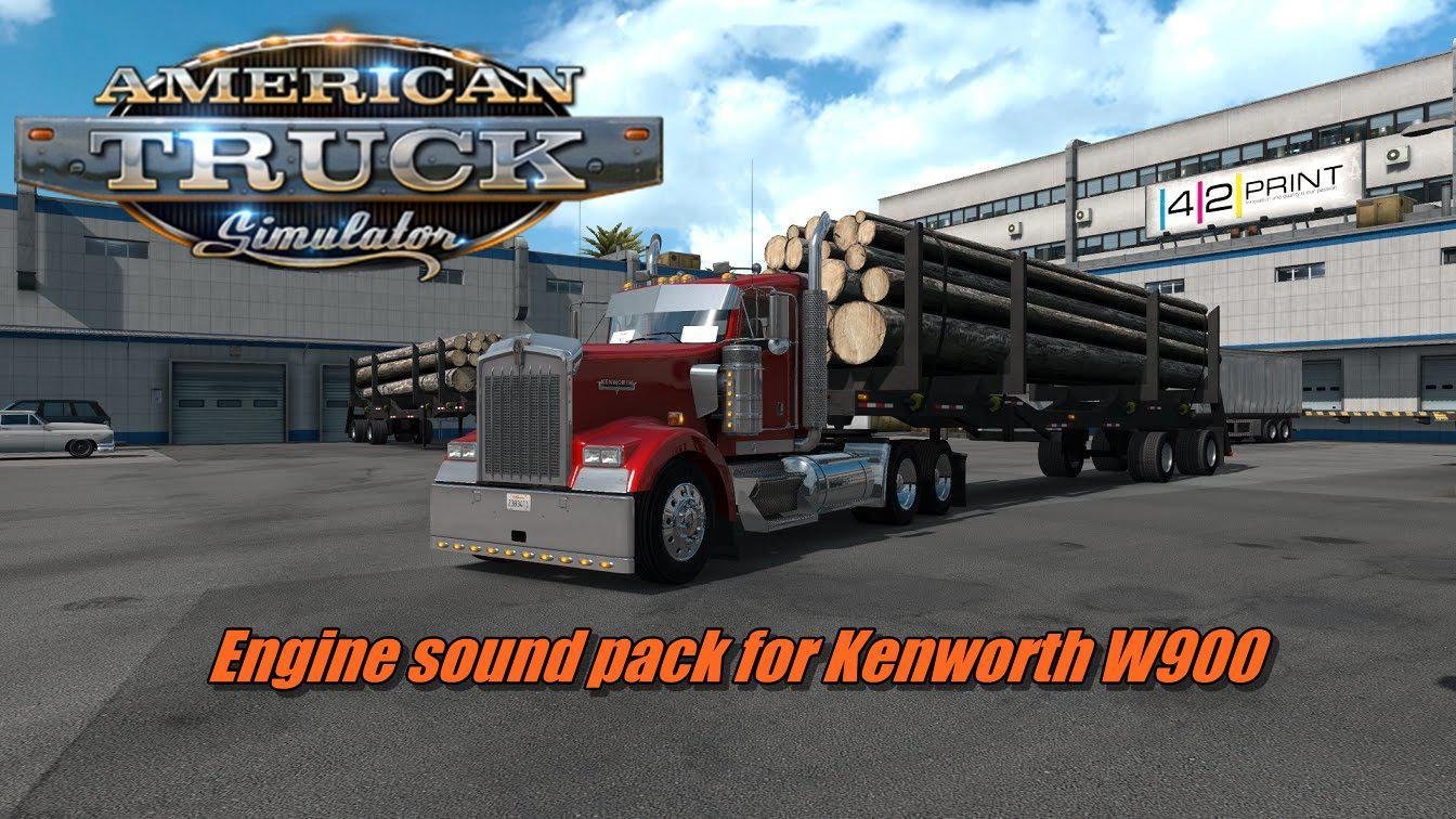 ATS - Engine Sound Pack for T800, W900 V2.8 (1.35.X)
