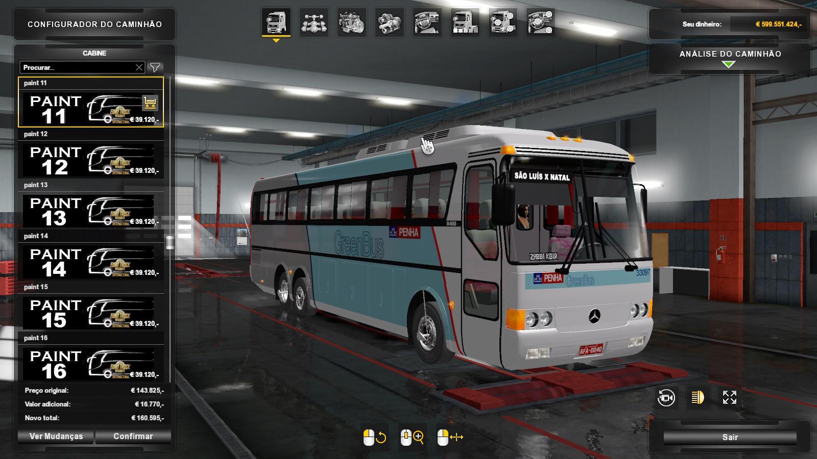 ETS2 - Bus Monobloco 0400 MB (1.36.x)