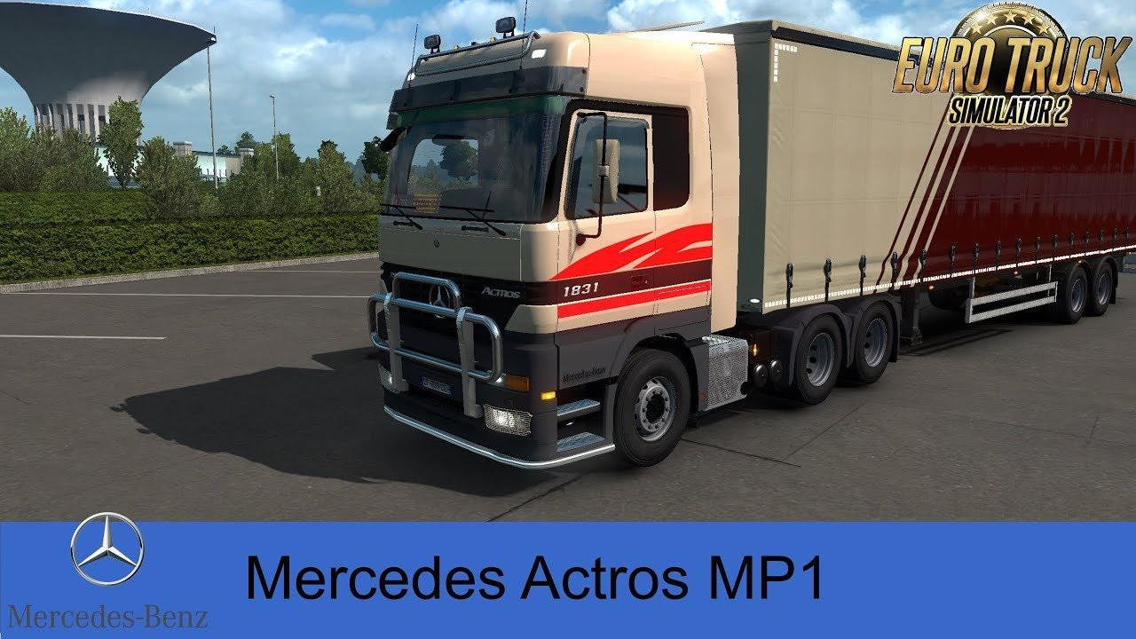 ETS2 - Mercedes Actros MP1 Truck V1.2.2 (1.39.x)
