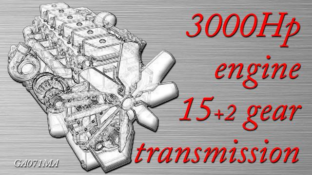 ETS2 - 3000 Hp Engine And 15+2 Gear Transmission V1.0 (1.38.x)