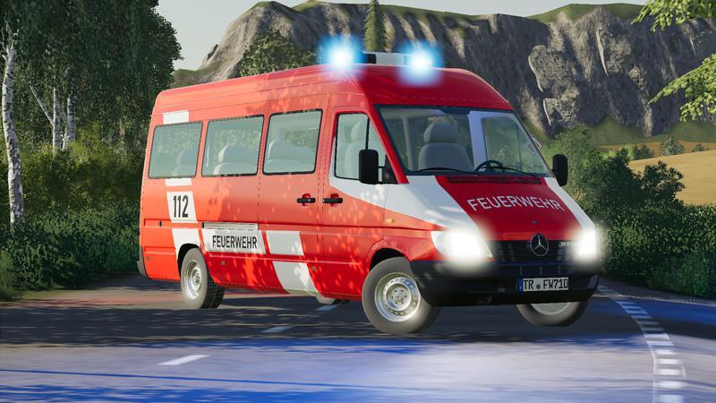 FS19 - Mercedes Sprinter W904 Fire Brigade And Civil V1.1