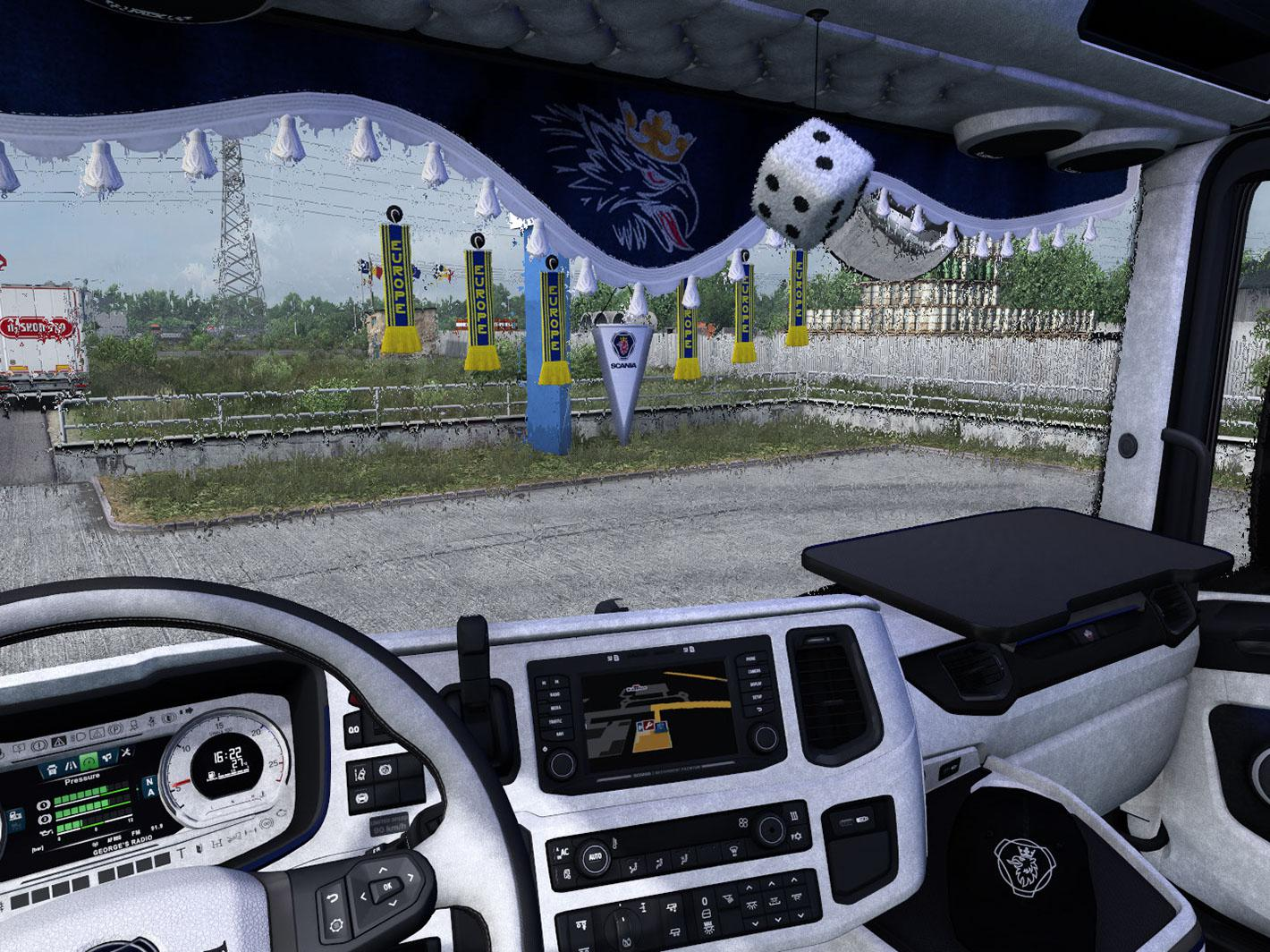 ETS2 - Scania Nextgen Grey Interior V8 (1.37.x)