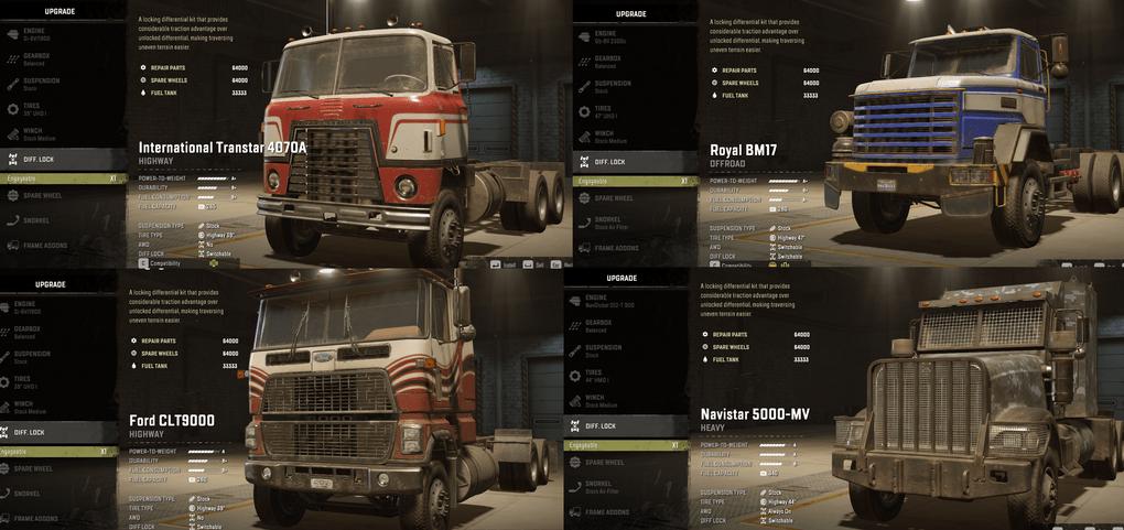 SnowRunner - Diff Lock for Trucks with No Diff Lock V1.0
