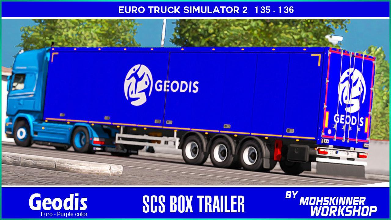 ETS2 - Scs Trailer - Geodis Euro (1.36.x)