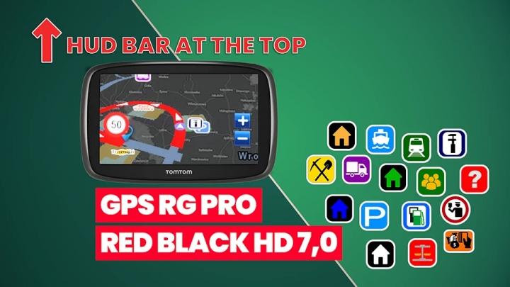ETS2 - GPS RG Pro Red Black HG V7.0 (1.40.x)
