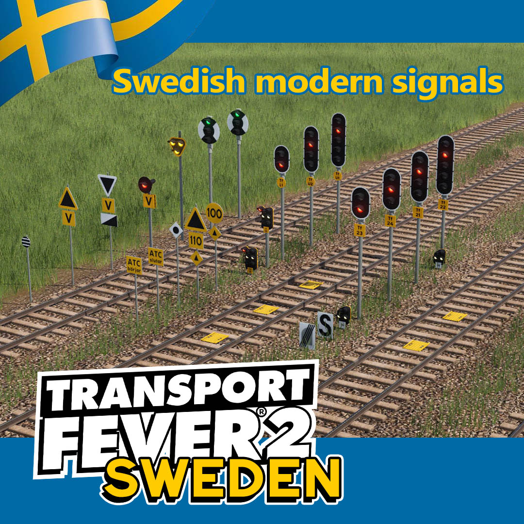 Transport Fever 2 - Swedish Modern Signals V1.0