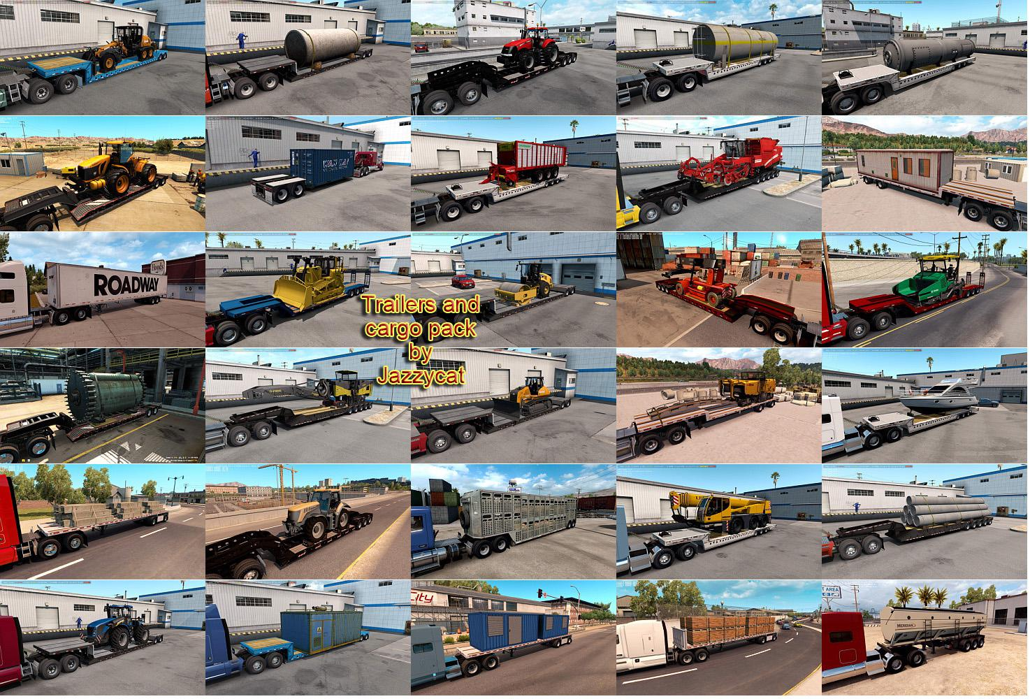 ATS - Trailers and Cargo Pack by Jazzycat V3.1 (1.36.X)