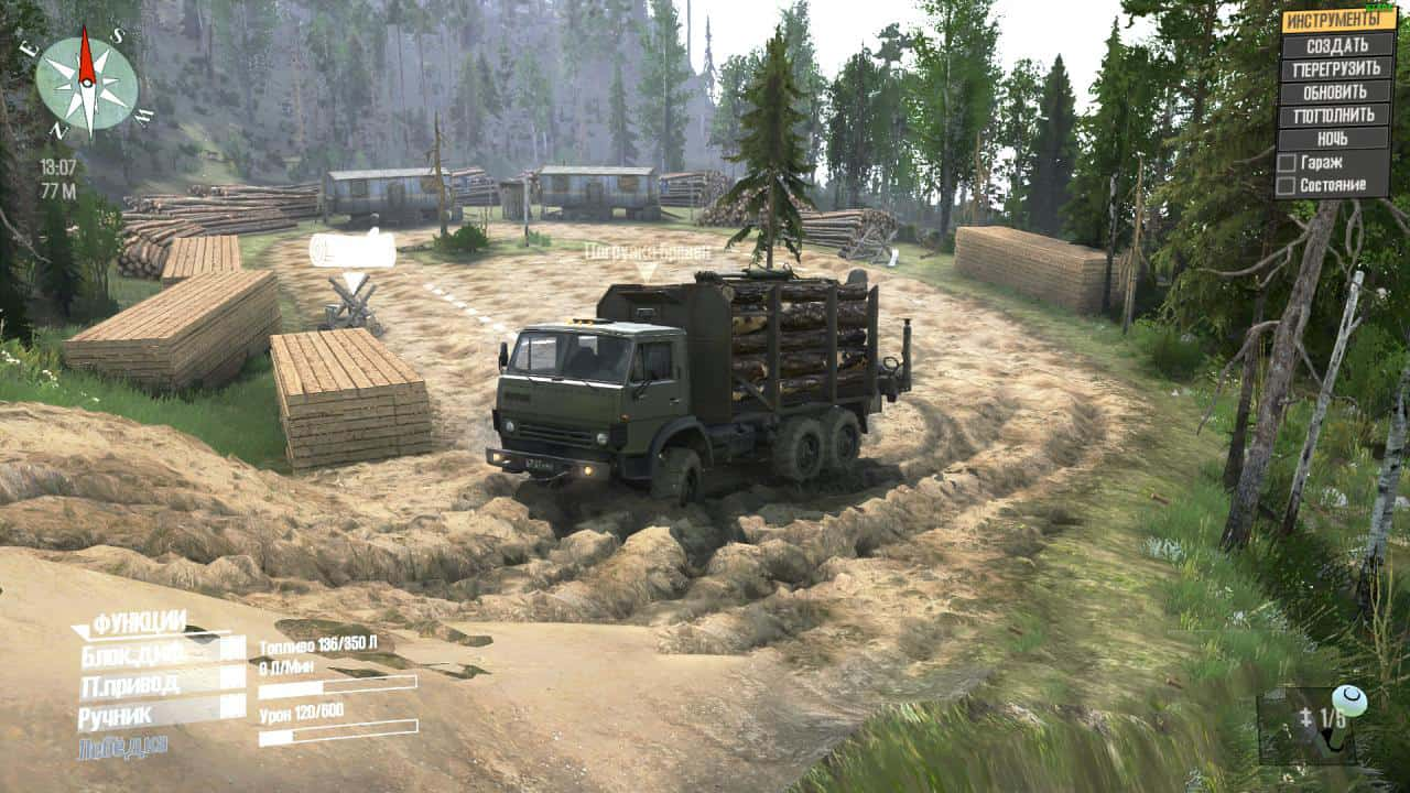 Spintires:Mudrunner - Delivery of Firewood Map