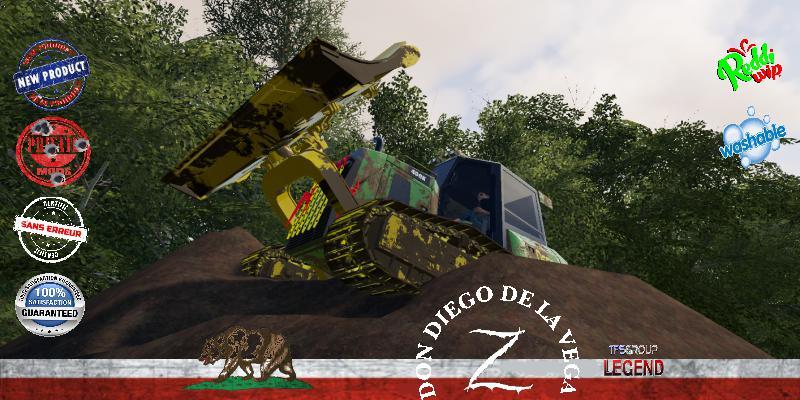 FS19 - Forestry Tractor Dozer Deere V1.5