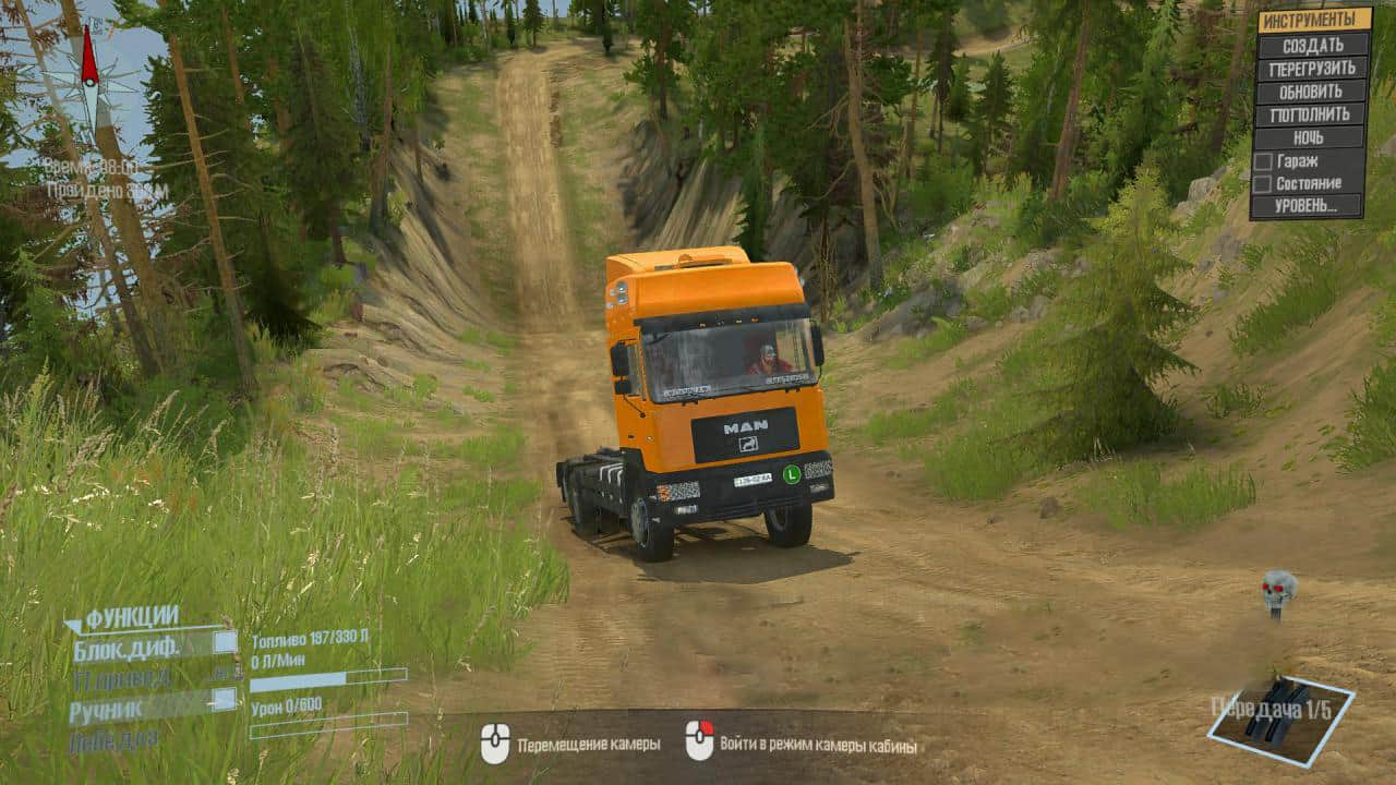 Spintires:Mudrunner - Polygon Spirtagan36rus Map V1.0