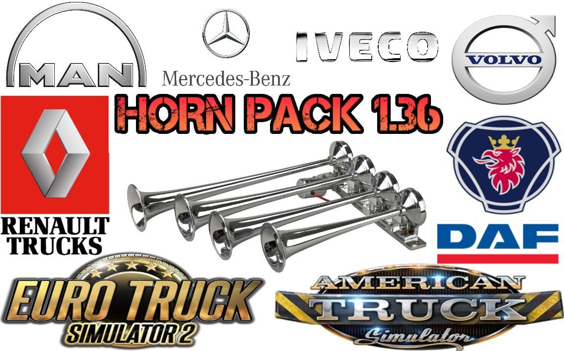 ETS2 - Horn Pack (1.36.x)