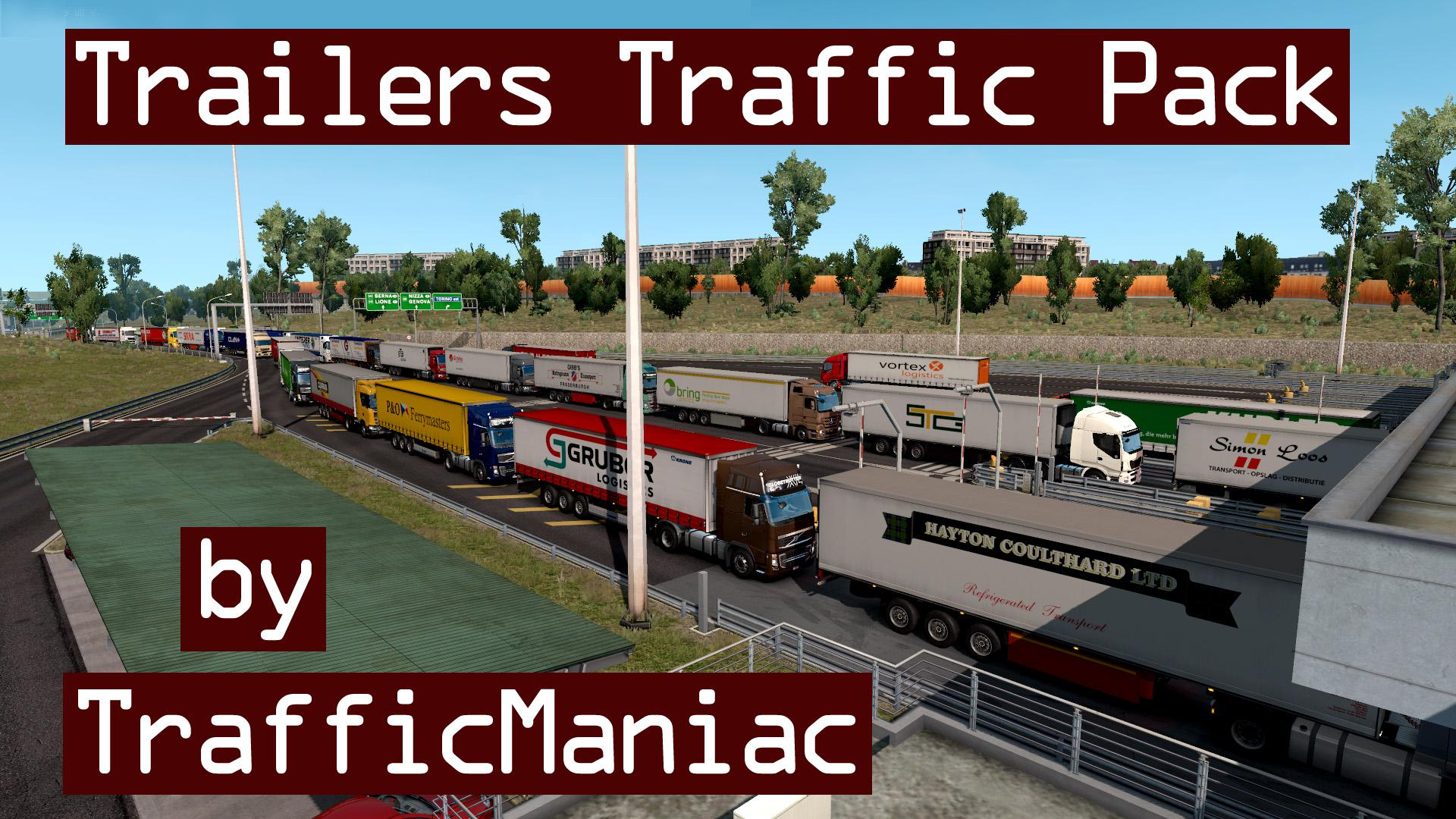 ETS2 - Trailers Traffic Pack V3.9 (1.36.x)