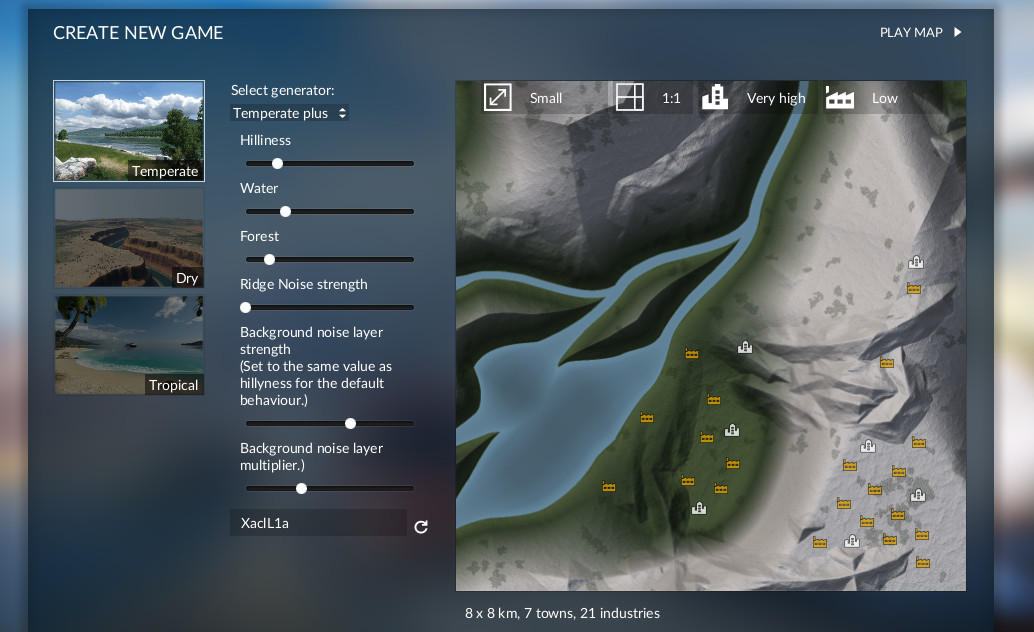 Transport Fever 2 - Map Generators Plus