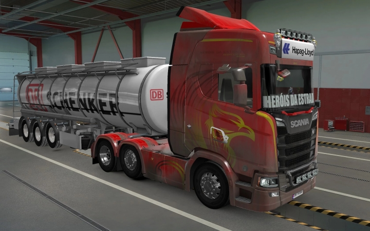 ETS2 - Sticker Glass for All Trucks Herois Da Estrada (1.40.x)