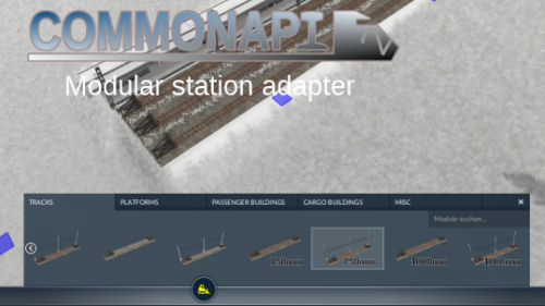 Transport Fever 2 - Modular Rail Station Adapter
