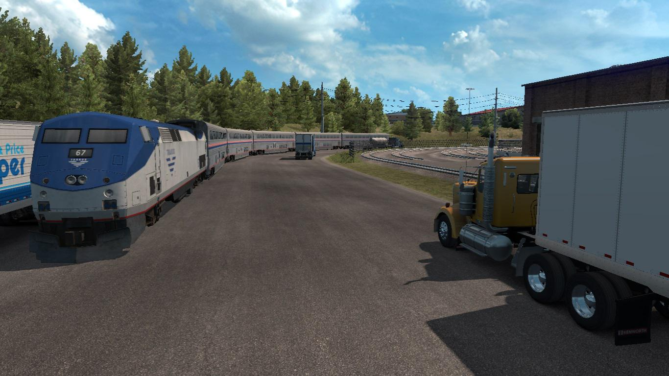 ATS - Trains Everywhere (Road Nightmare) Addon v1.0 (1.35.X)
