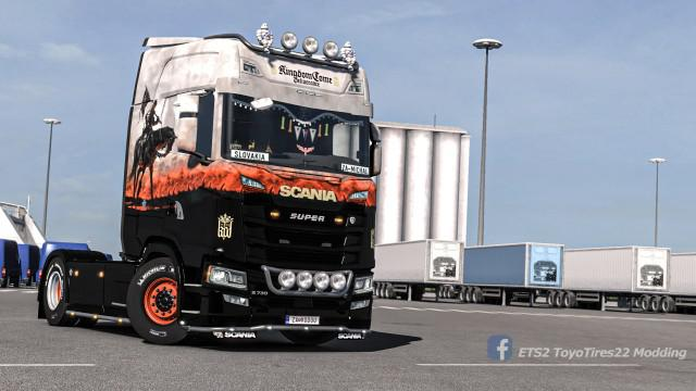 ETS2 - Scania S Kingdom Come Deliverance Skin V1.0 (1.35.X)