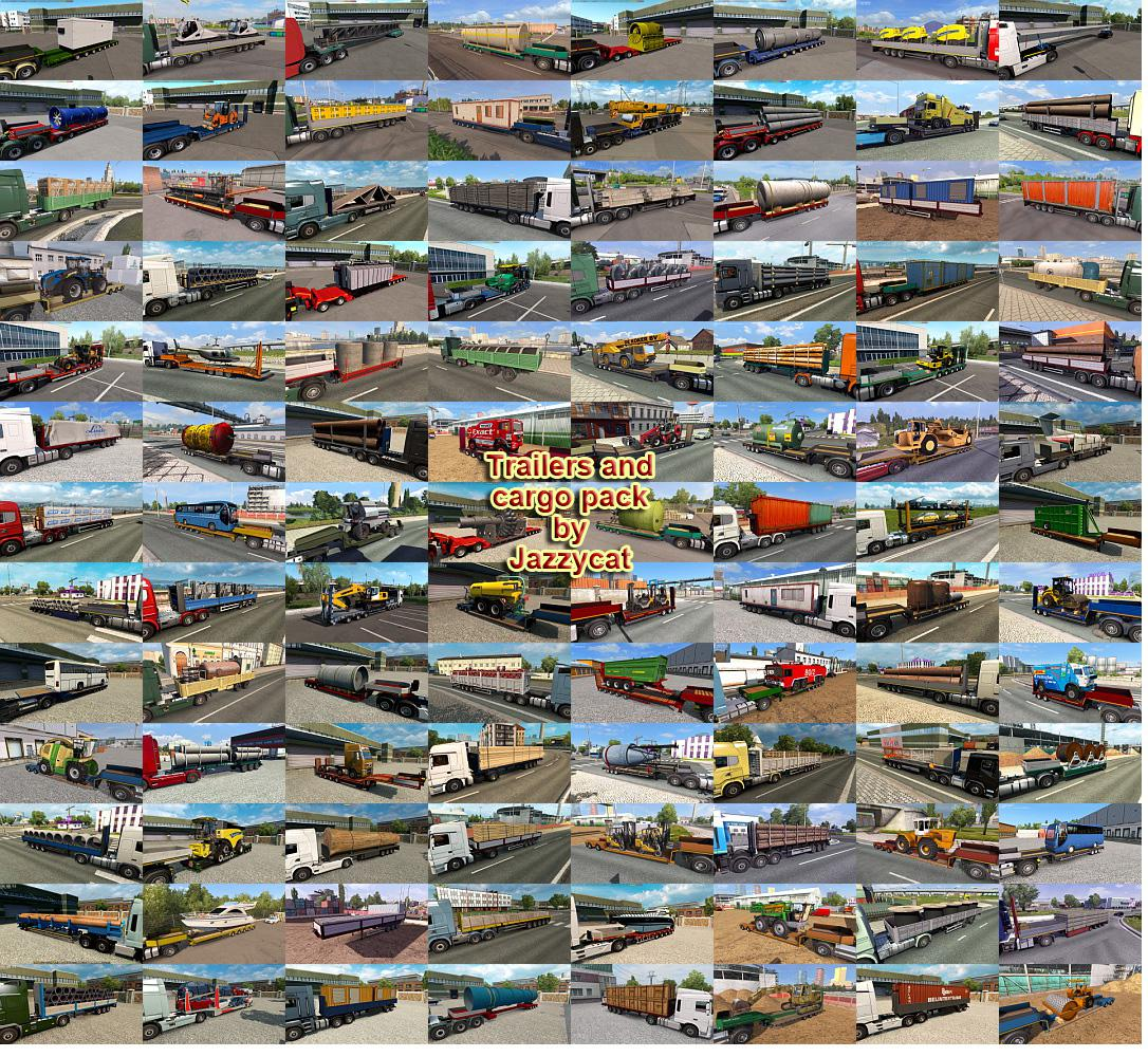 ETS2 - Trailers and Cargo Pack V8.1 (1.35.X)