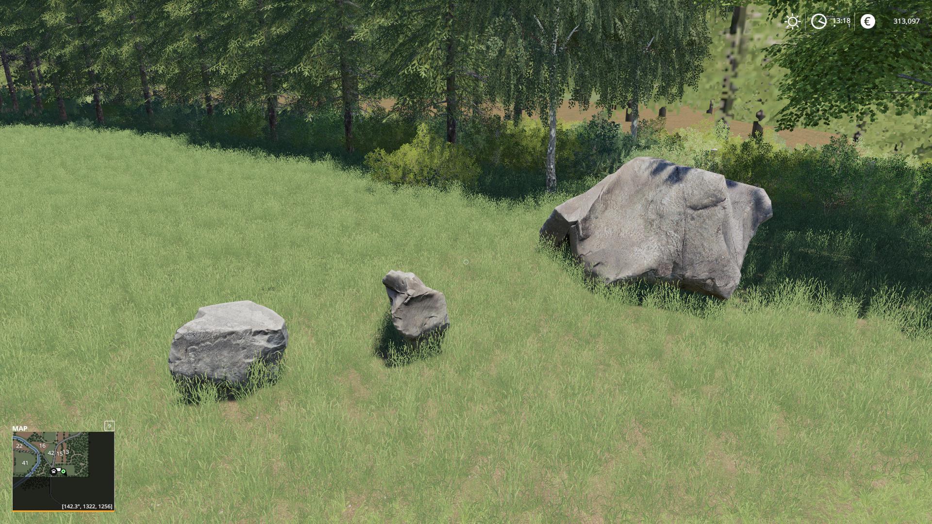 FS19 - Dynamic Rocks V0.1
