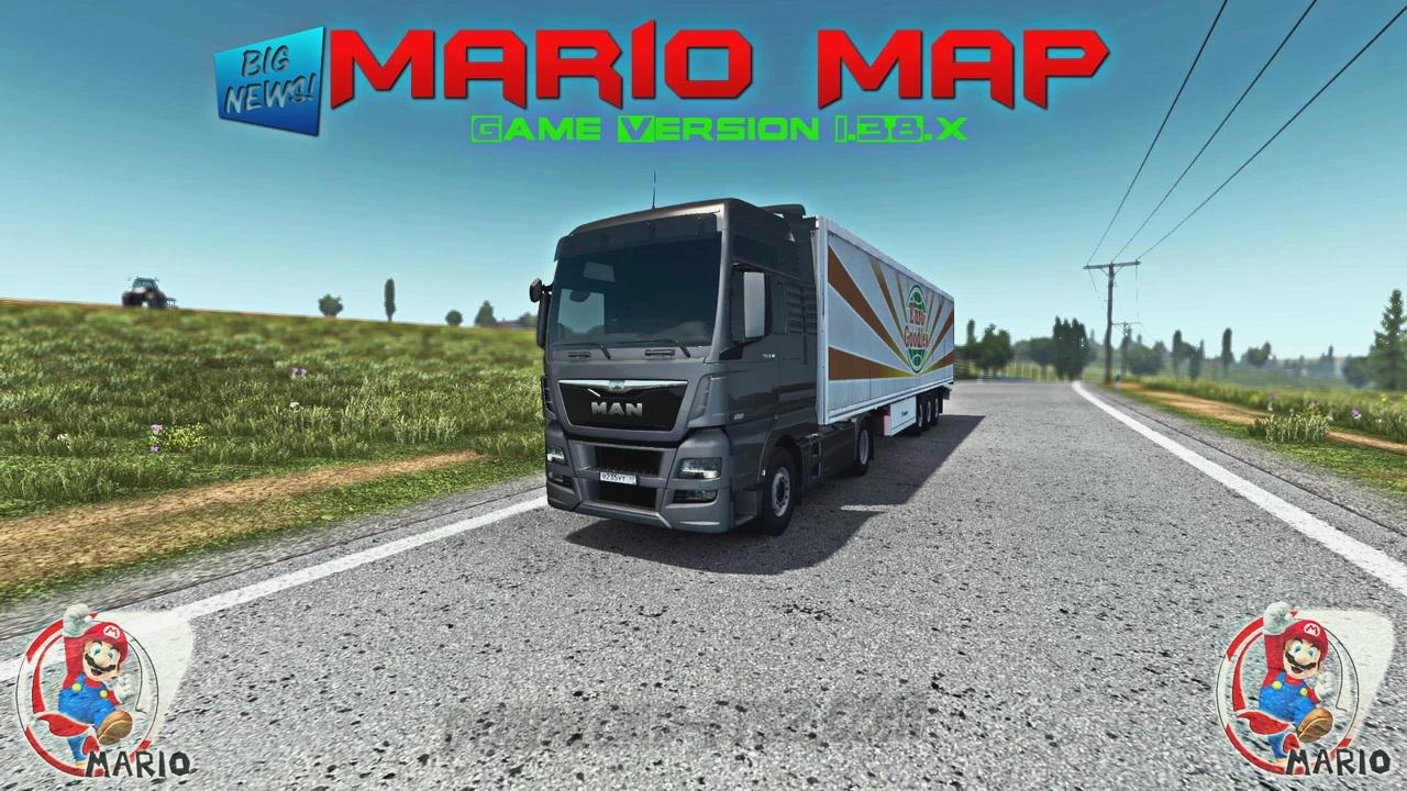 ETS2 - Mario Map V13.0 (1.39.x)