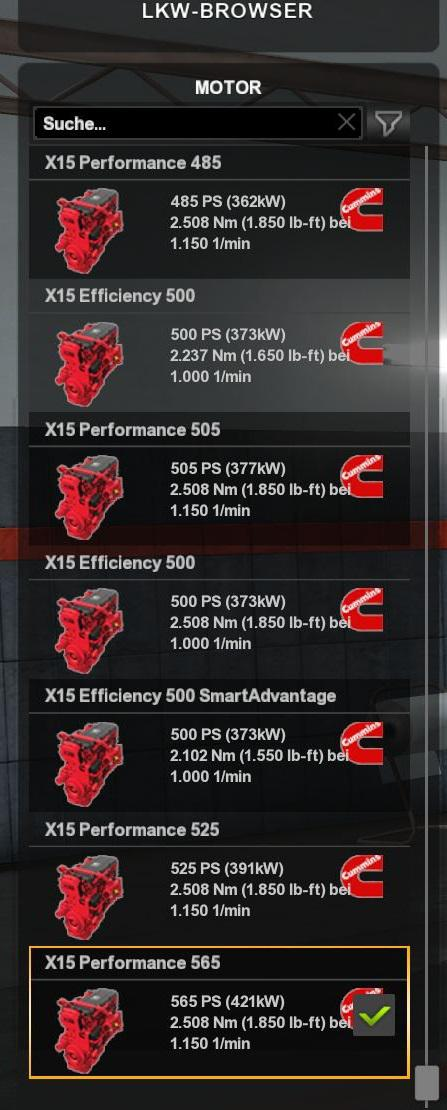 ETS2 - Cummins Engines & Transmissions for All Trucks (1.35.x)