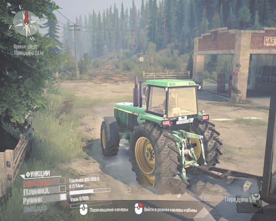 Spintires:Mudrunner - John Deere 4755 Tractor V1.0
