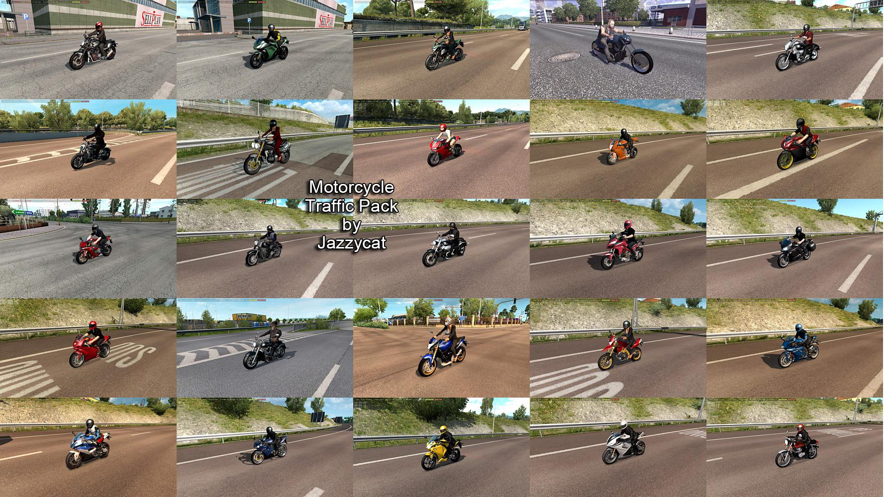 ETS2 - Motorcycle Traffic Pack V3.8.4 (1.39.x)