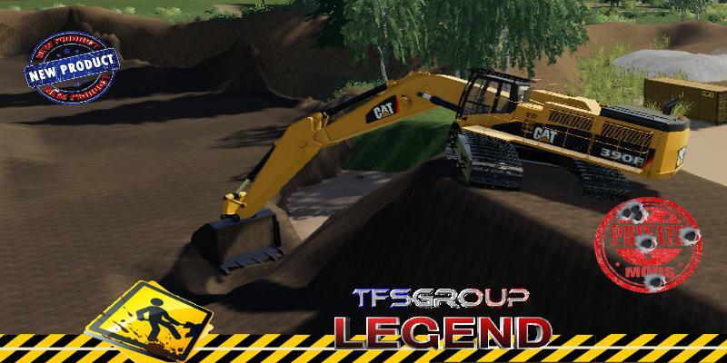 FS19 - Caterpillar 390F Excavator V1.5