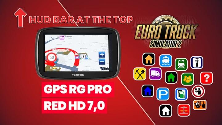 ETS2 - GPS RG Pro Red HG V7.0 (1.40.x)