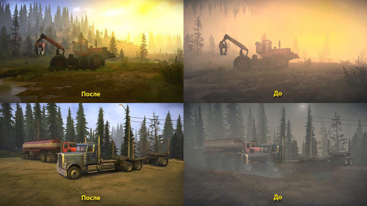 Spintires:Mudrunner - Realistic Graphics Adega Mod Pack V2.4