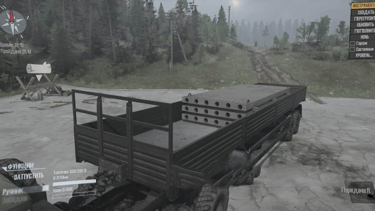 Spintires:Mudrunner - Semi-Trailer 2/4/8 Loading Points V06.09.20