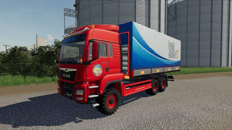 FS19 - Man Tgs Trucks With Flatbed And Tarpaulin V1.1.1