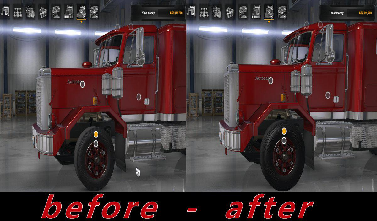 ATS - Large Tires Mod V1.0 (1.36.x)
