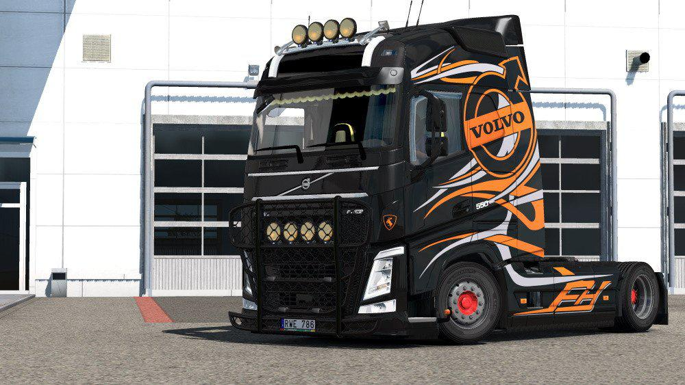 ETS2 - Volvo FH 2012 Custom Luis E Filipe Skin V1.0 (1.35.x)