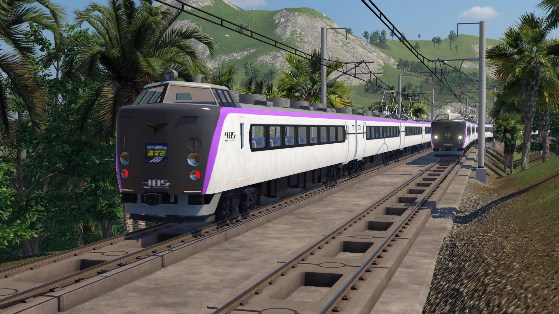 Transport Fever 2 - JNR 485 Series (E353 Livery)