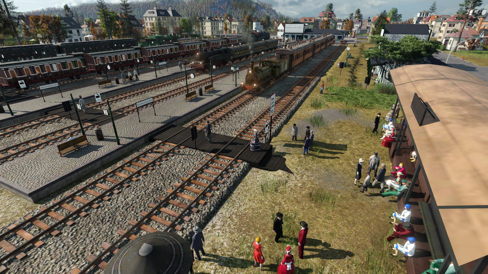 Transport Fever 2 - Pedestrian Track Crossing Modules 1.1