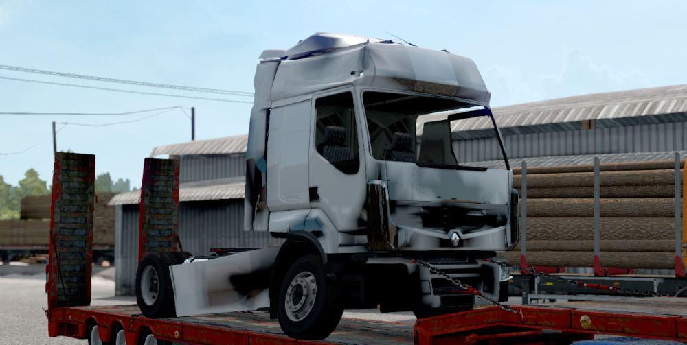 ETS2 - Renault Premium Broken Cargo Skin V1 (1.37.x)