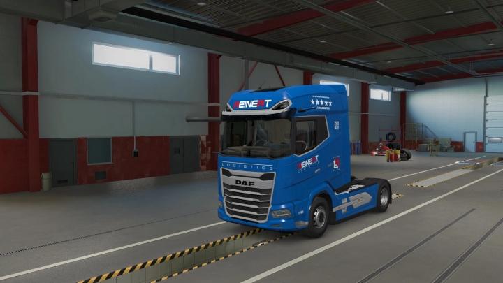 ETS2 - Daf 2021 XG Reinert Logistics Skin V1.0 (1.40.x)