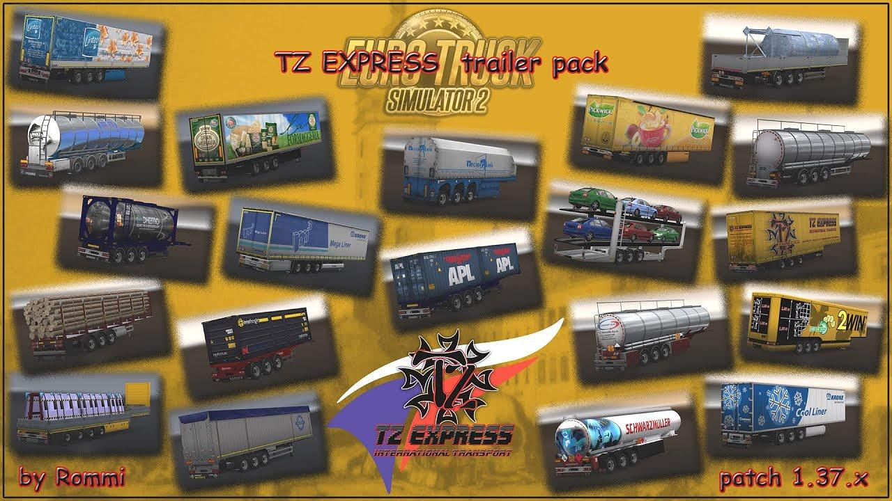 ETS2 - TZ Trailers Pack (1.37.x)